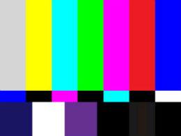Television error screen