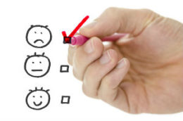 Hand selecting a negative review.